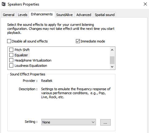 Ecualizador para Windows 10