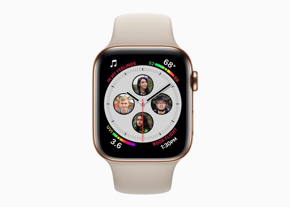 Las nuevas caracteristicass y los rostros en los relojes llegarán a Apple Watch Series 4 para aprovechar el espacio adicional en la pantalla