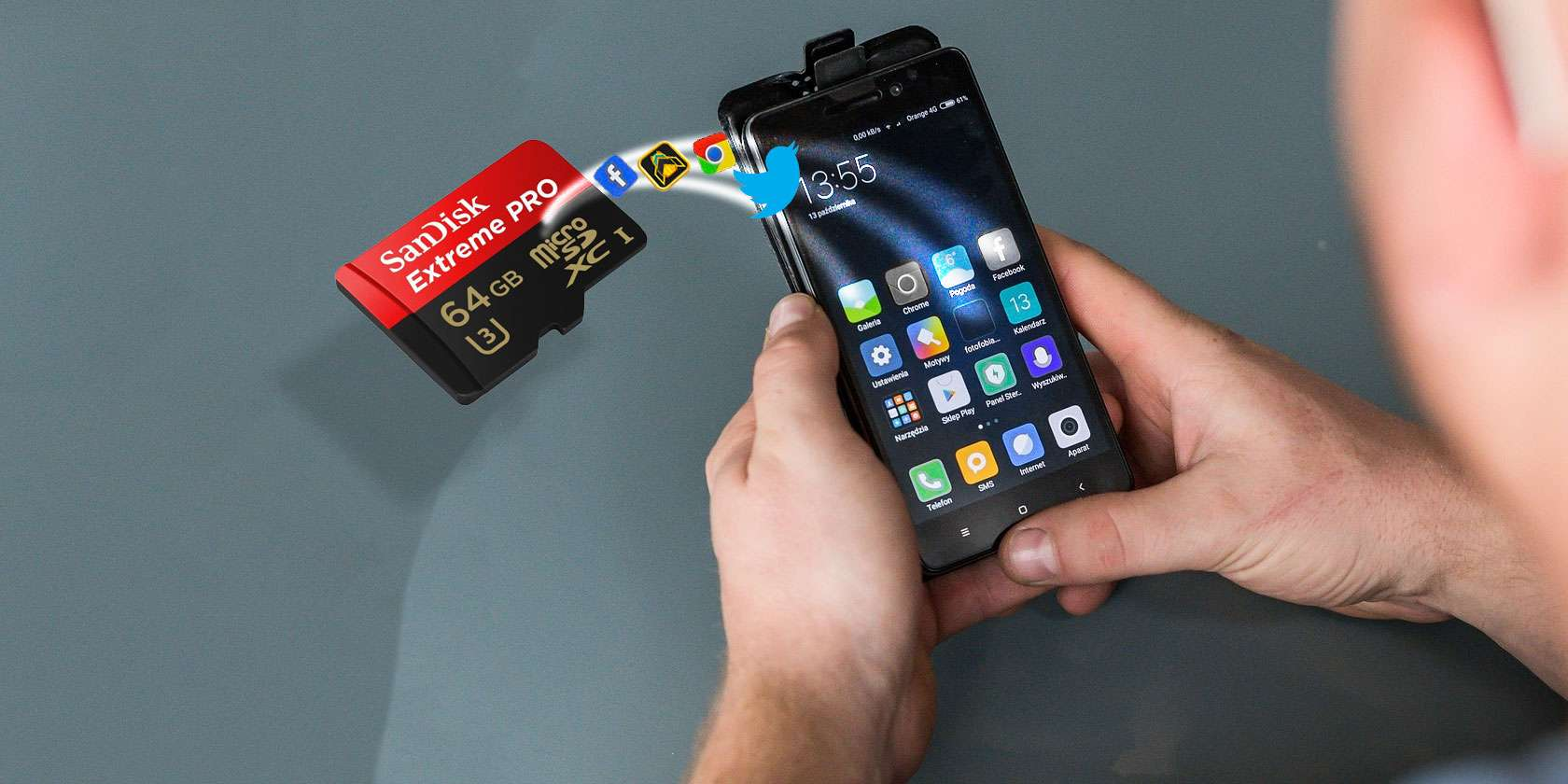 Android a micro SD