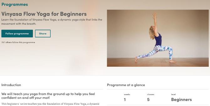 cursos y aplicaciones gratis para principiantes de yoga