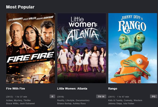 mejores servicios TV por streaming crackle