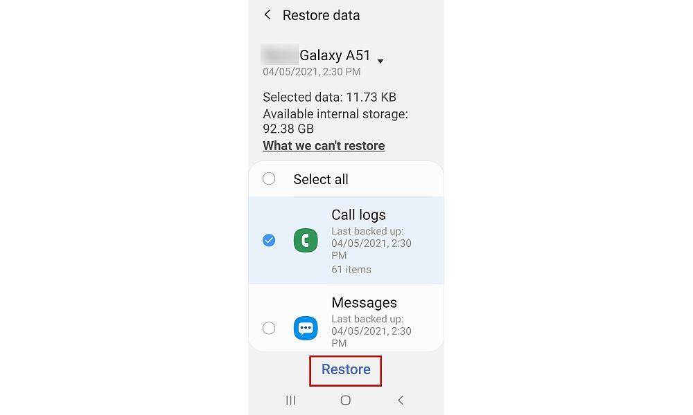 recuperar registro de llamadas